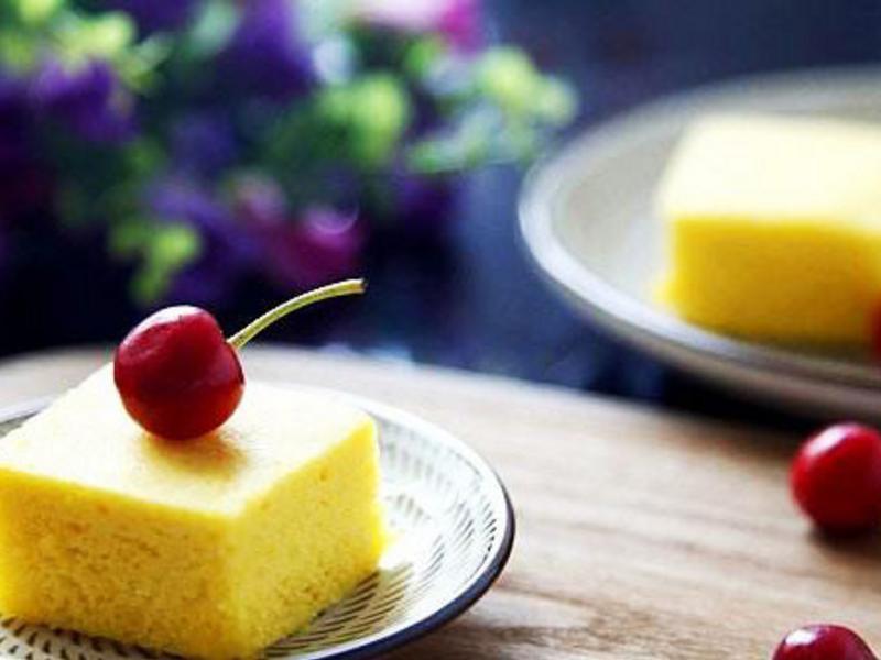 云硒黄金粥蒸蛋糕