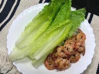 雞油蝦仁佐蘿美生菜