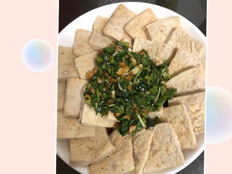 乾煎百頁豆腐佐爽口醬汁