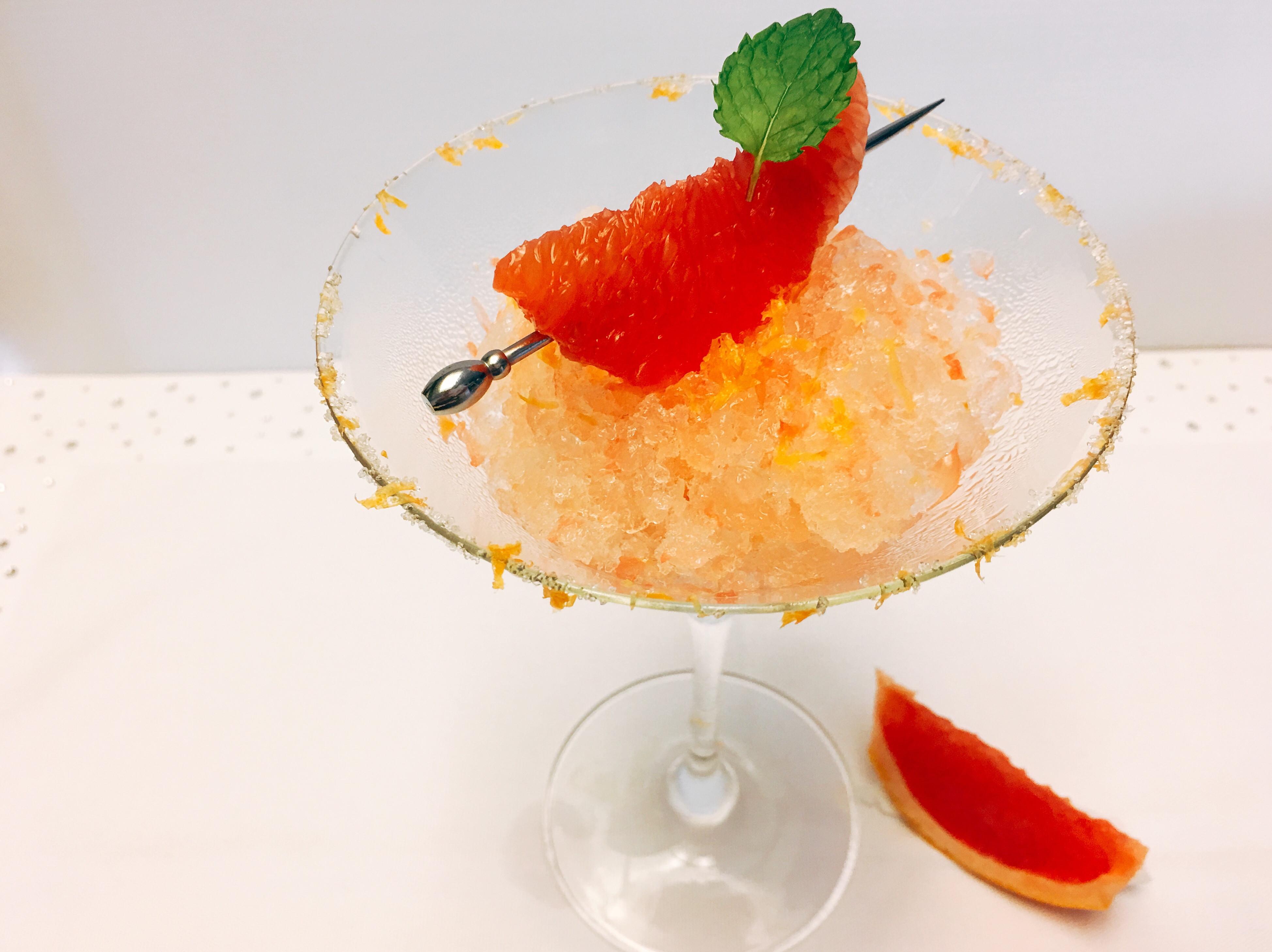 葡萄柚冰沙