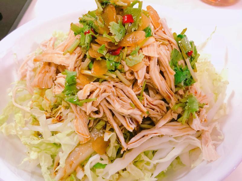 低碳水涼拌菜-雞絲白菜