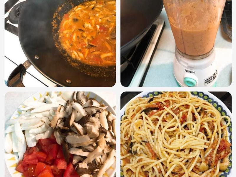 番茄雙菇肉醬義大利麵