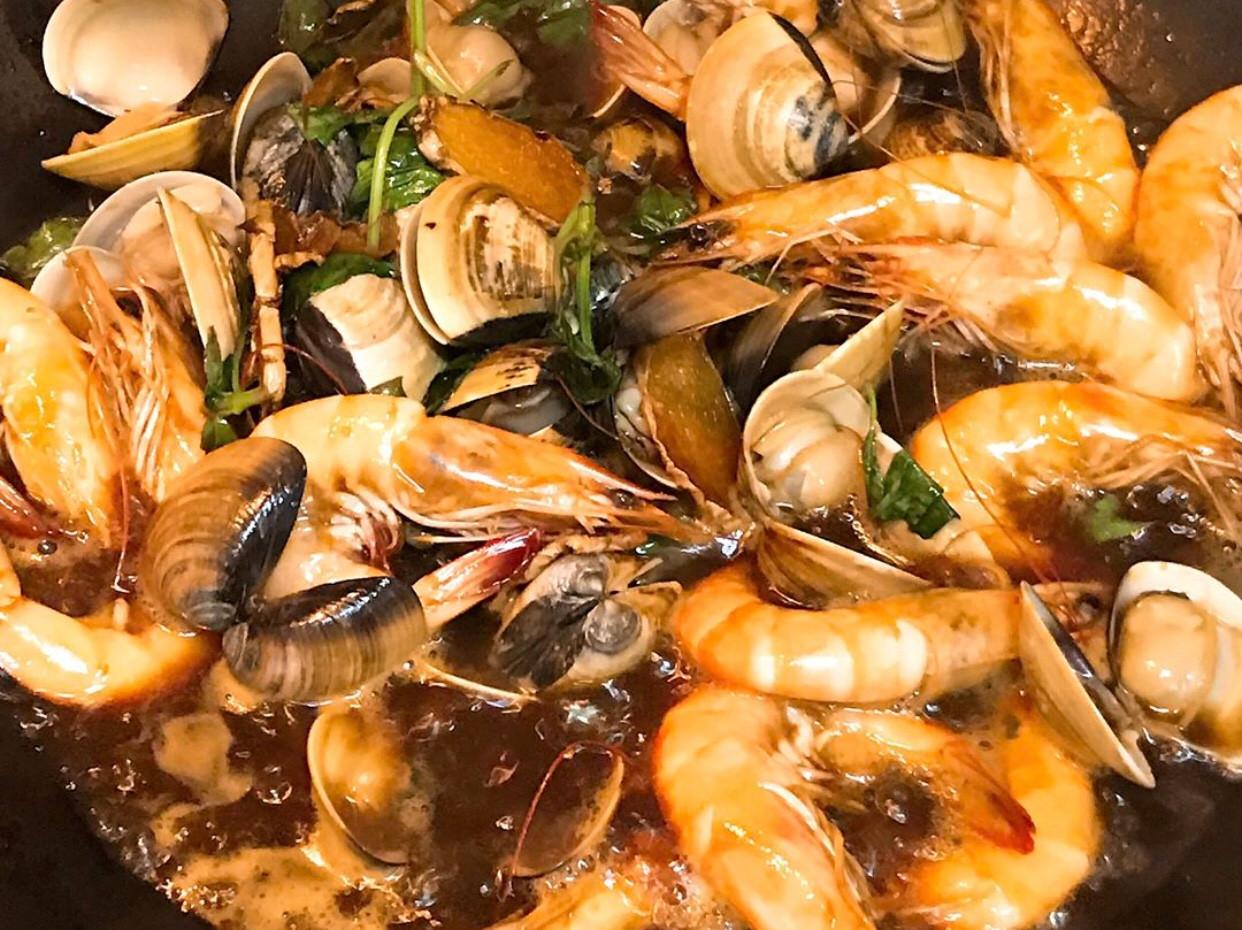 三杯(塔香)蝦蛤仔