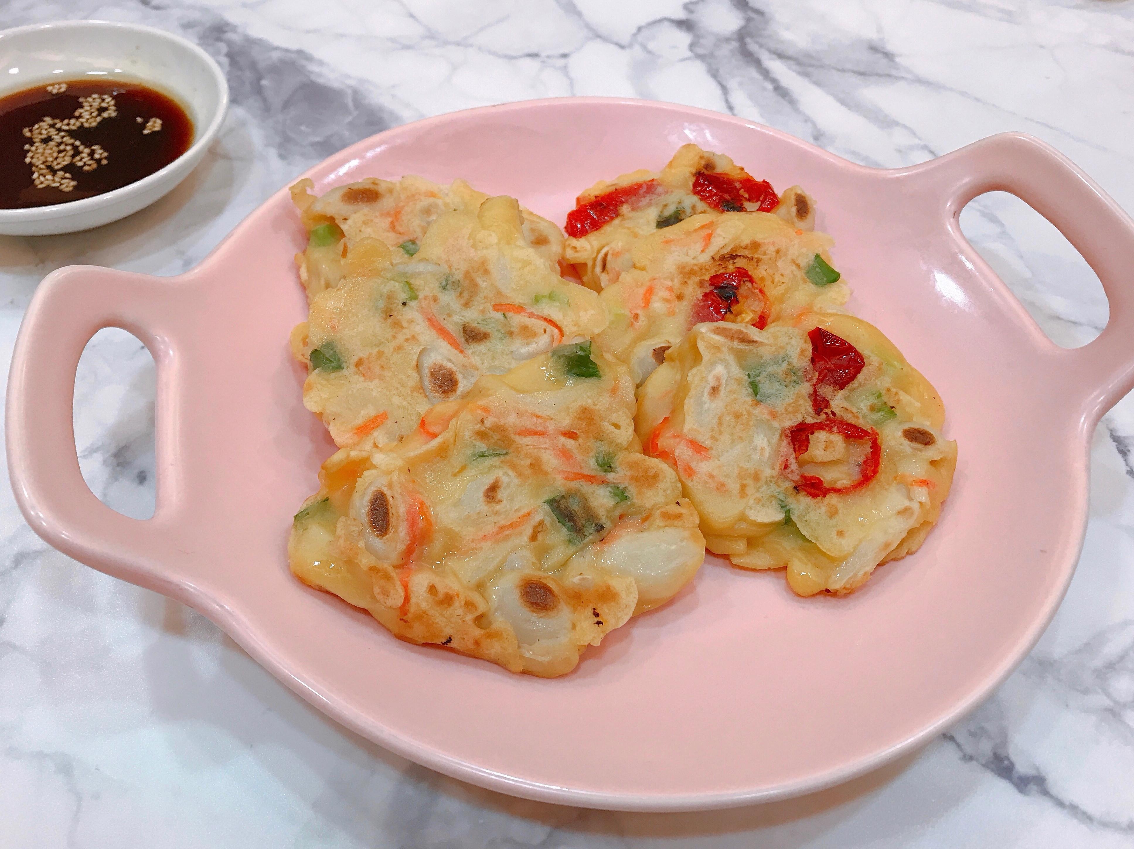 蔥香美白菇煎餅