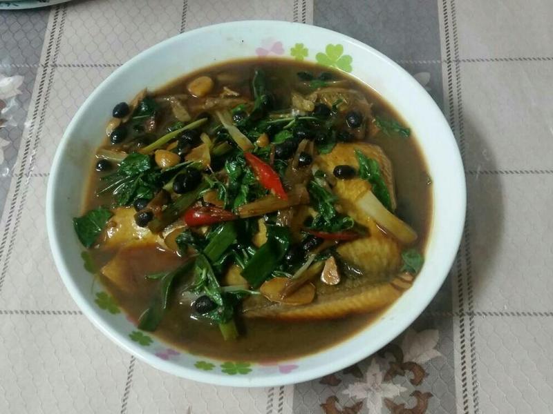 塔香煨虱目魚肚