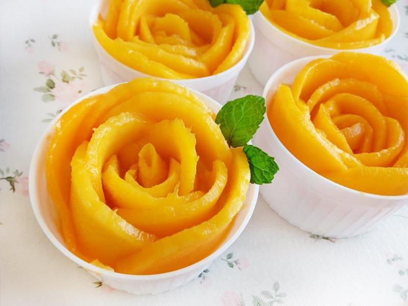 芒果玫瑰奶凍