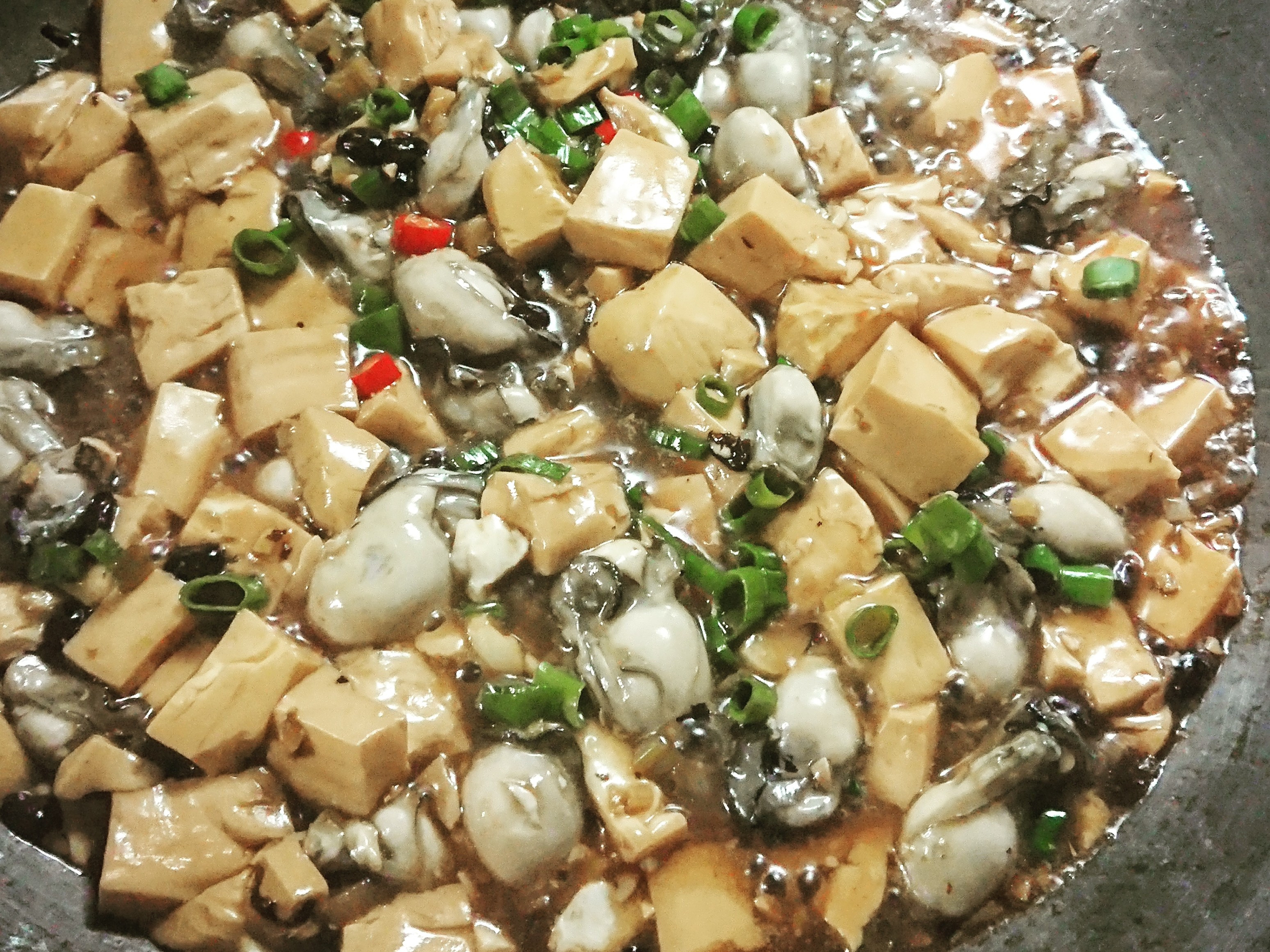 下飯菜--豆腐鮮蚵