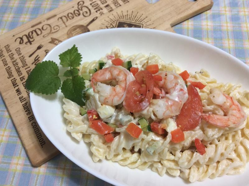 lanni 鮮蝦螺旋麵沙拉