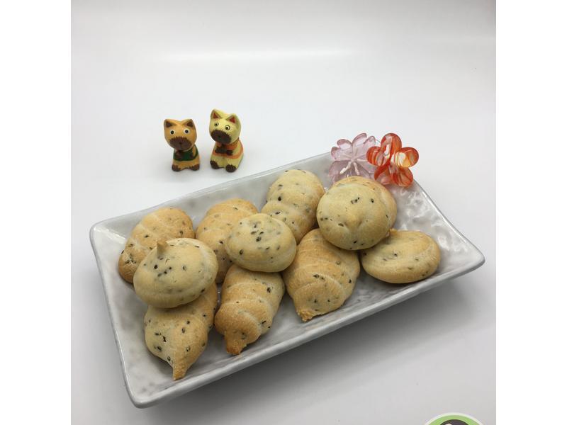 優格麻糬芝麻麵包