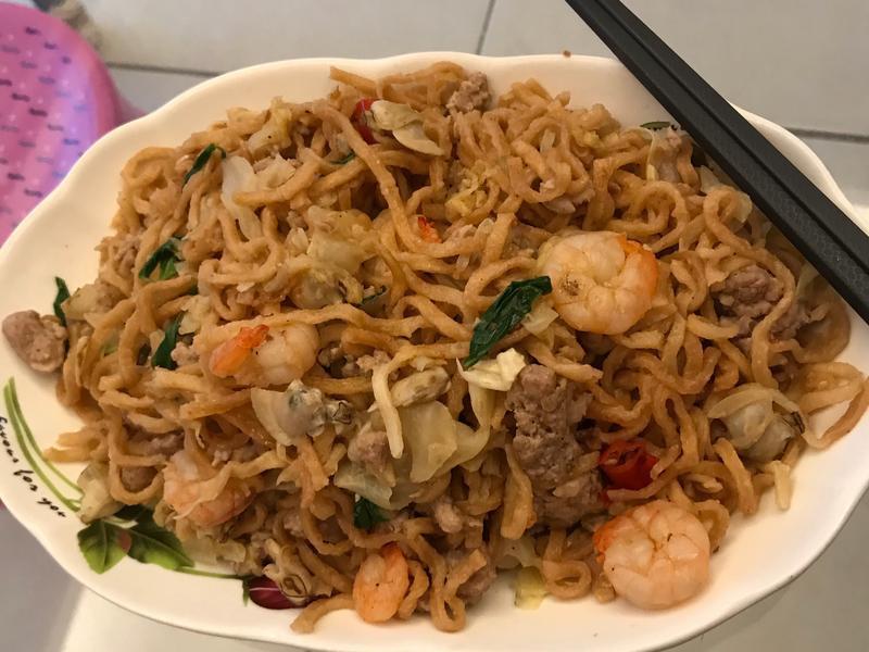 簡易海鮮炒意麵