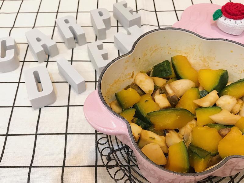 日式南瓜燒杏鮑菇