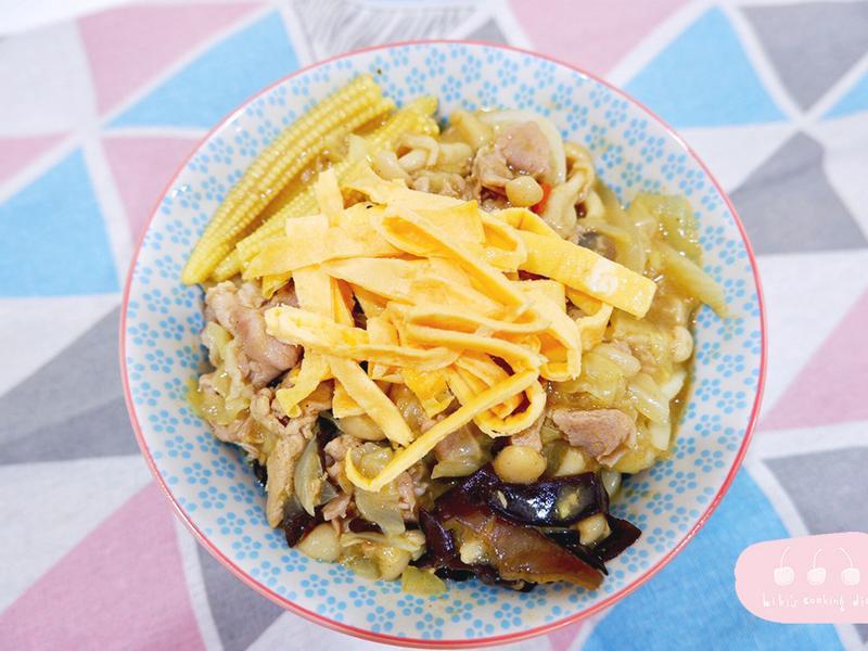 【麵食】豬肉咖哩炒烏龍