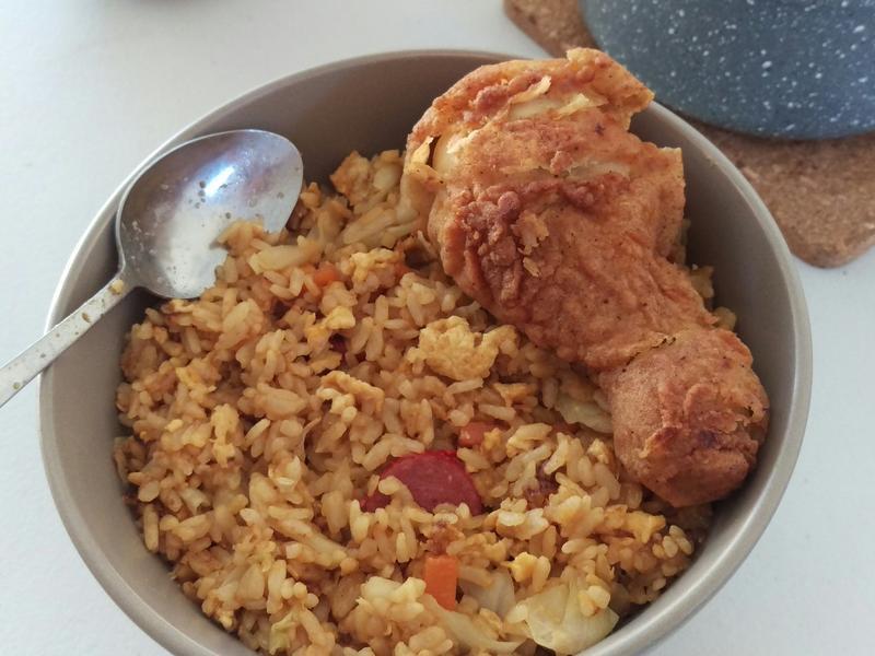 高麗菜火腿蛋炒飯