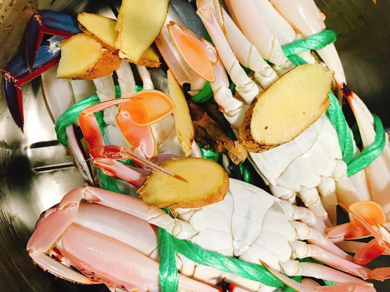 (電鍋)清蒸花蟹 三點蟹