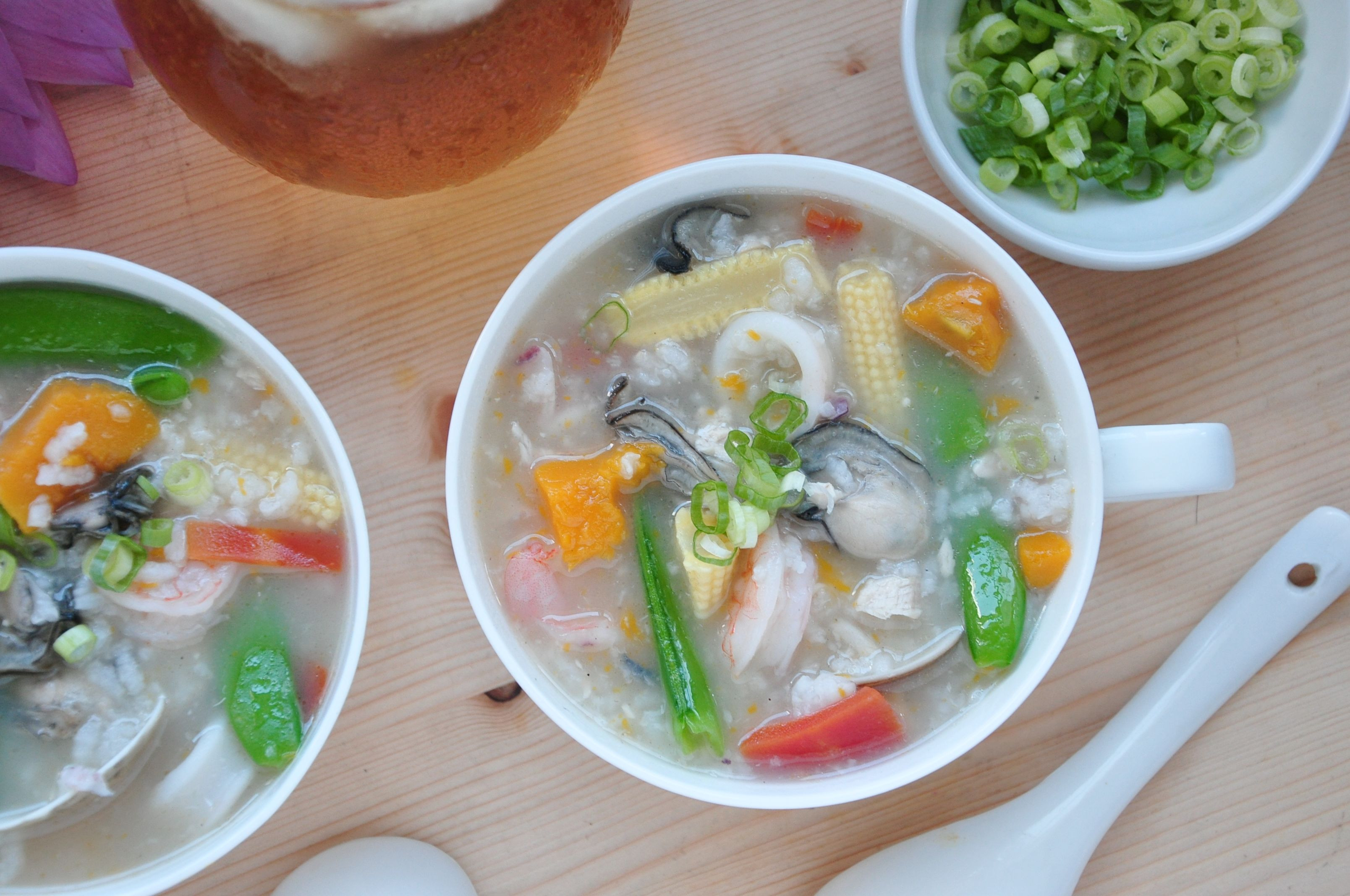 綜合海鮮虱目魚湯粥