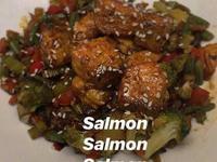 生酮低碳減脂|白芝麻鮭魚炒時蔬