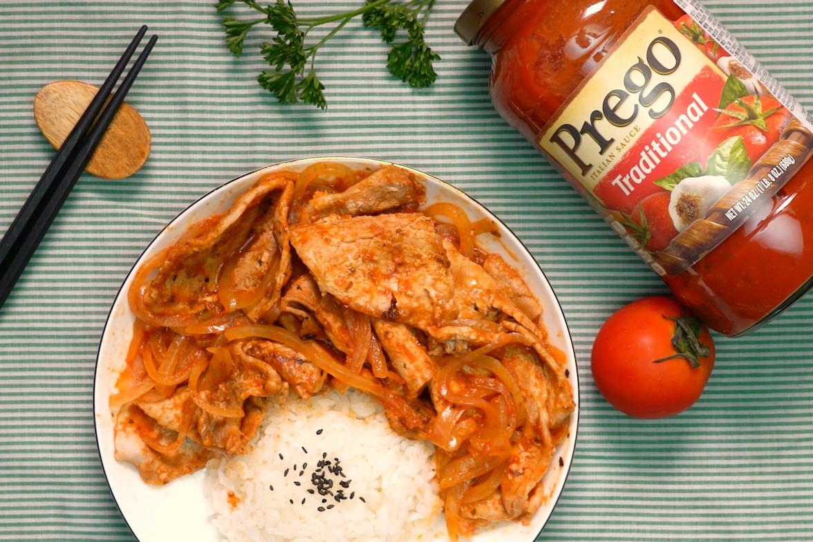 茄汁洋蔥豬排