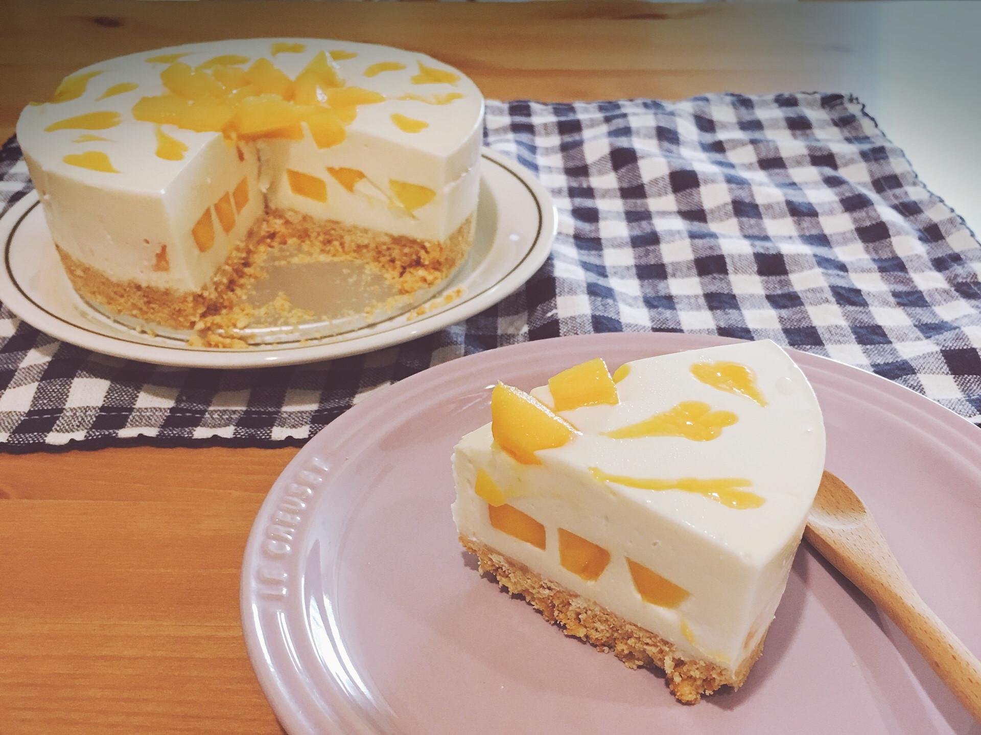 夏日芒果。生乳酪蛋糕