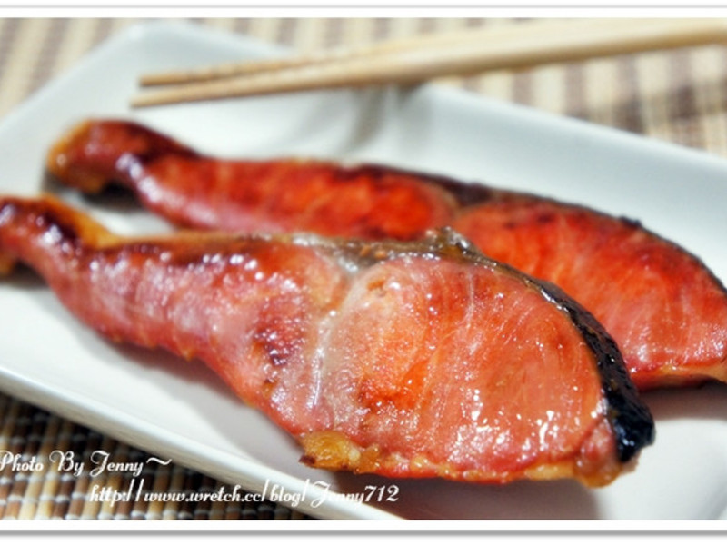 乾煎醬油鮭魚