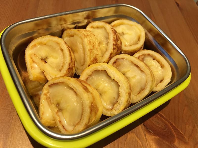 【寶寶食譜】香蕉法式吐司捲