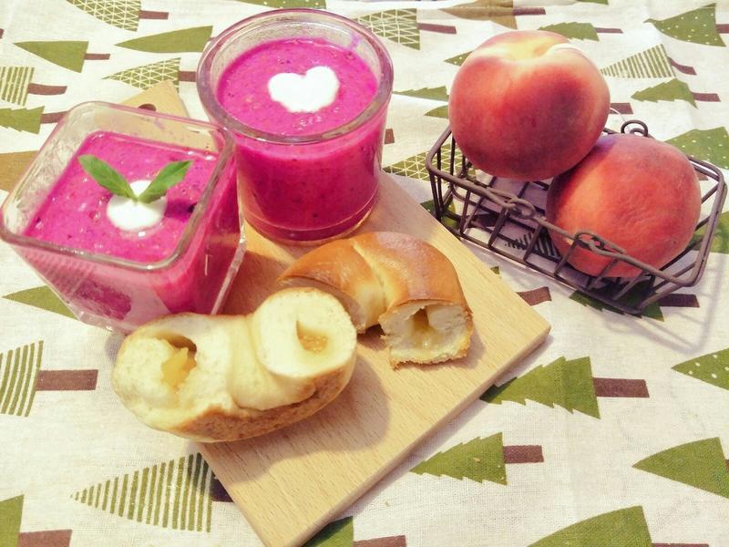 粉紅蔬果汁