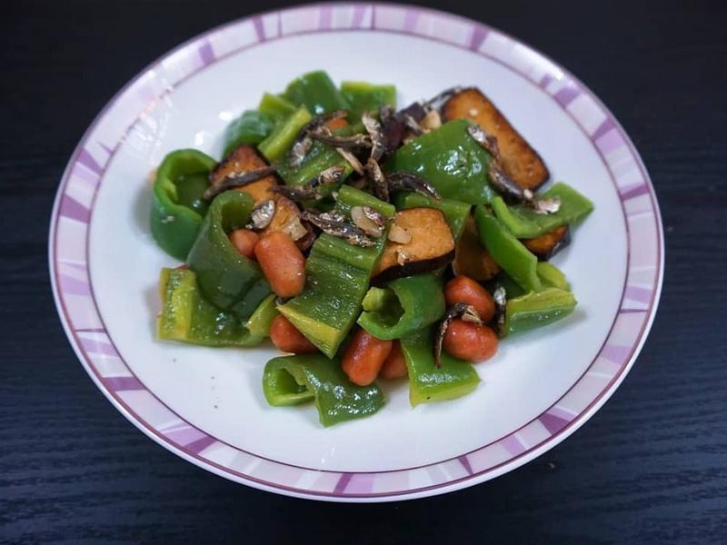 豆干小魚乾小肉豆炒青椒