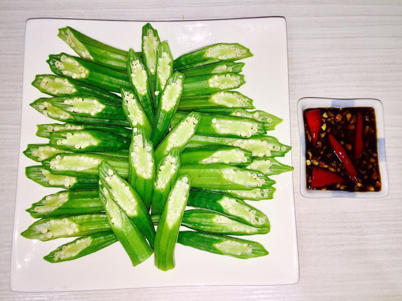 綠煙火秋葵冷盤