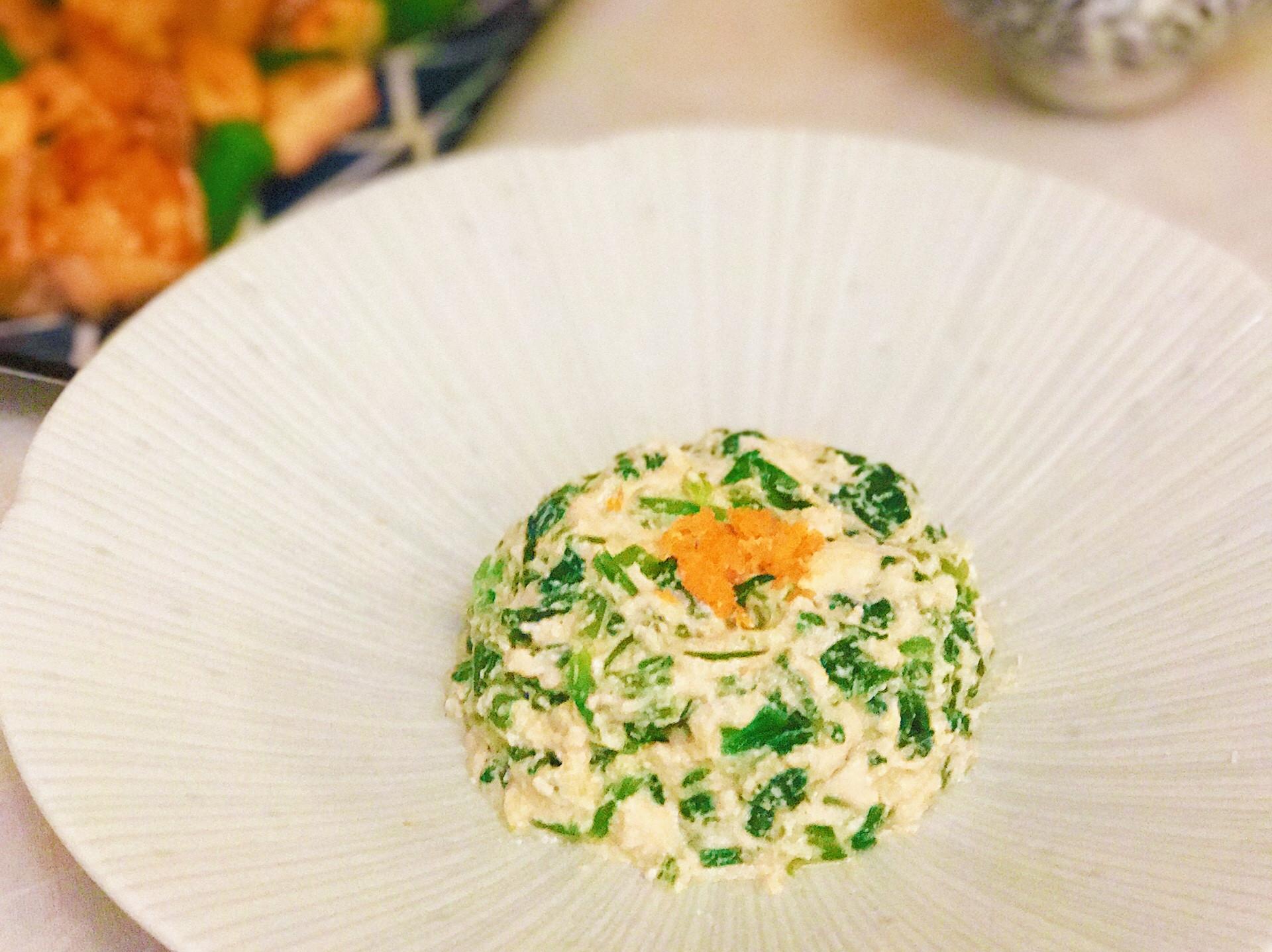 芝麻味增豆腐醬拌菠菜