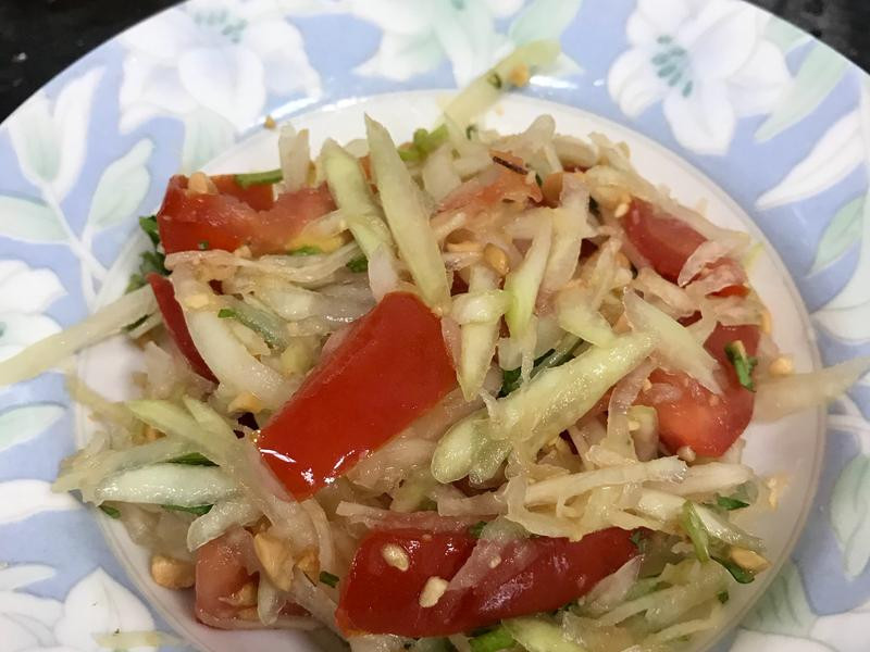 「素食」泰式涼拌青木瓜
