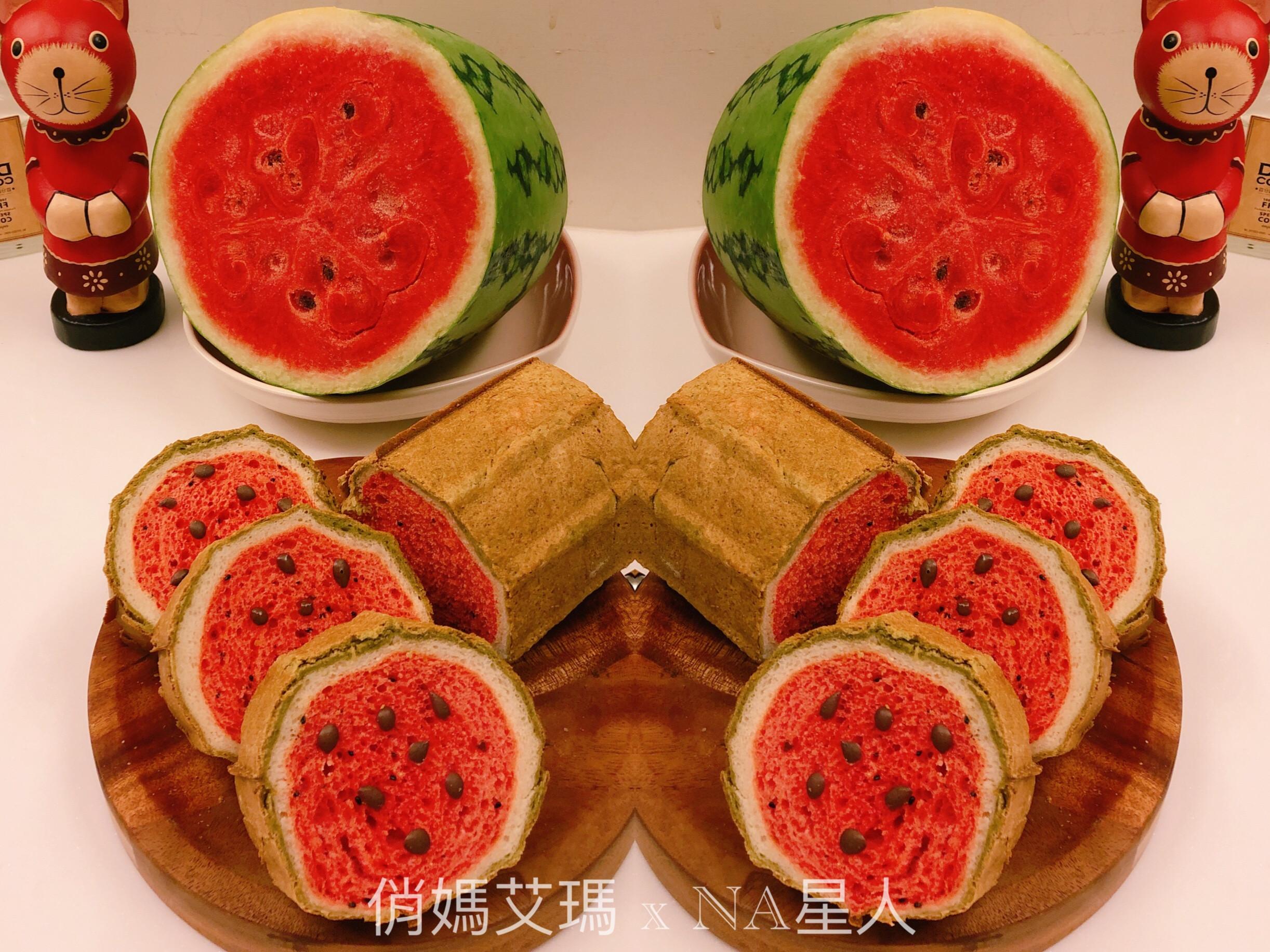 火龍果牛奶吐司_西瓜造型