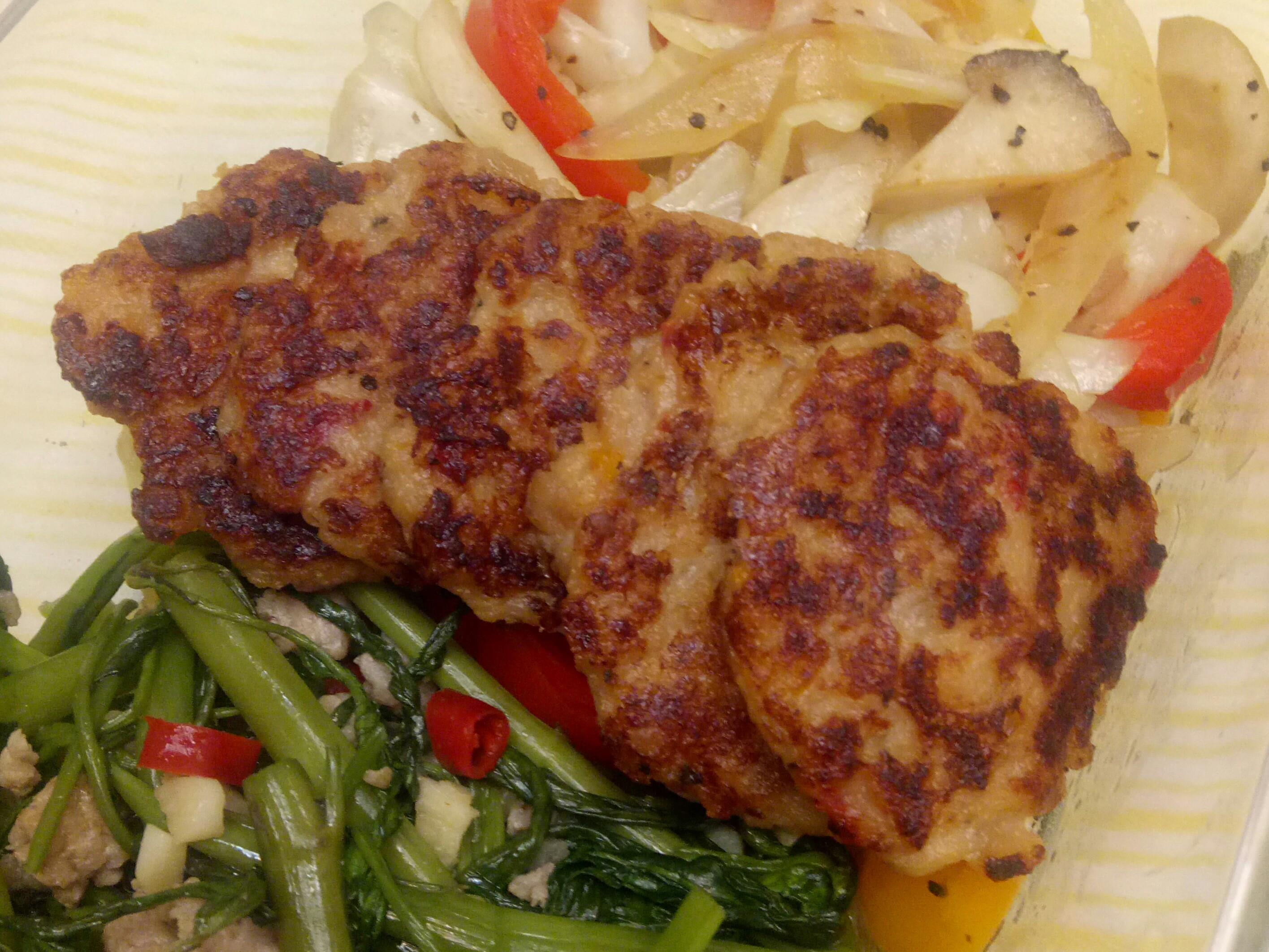 鮮蔬洋芋肉餅