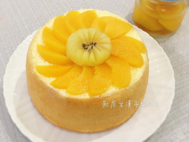 蜜桃戚風蛋糕