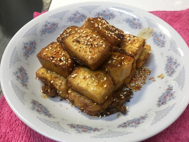 醬油香煎嫩豆腐