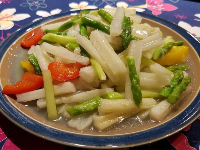 蘆筍炒淮山