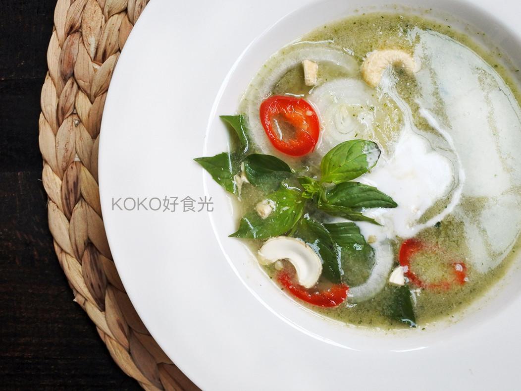 泰式綠咖哩花椰菜濃湯_低醣南洋味