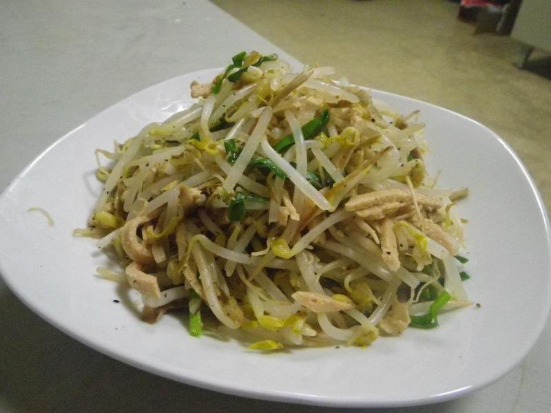 素火腿豆芽菜