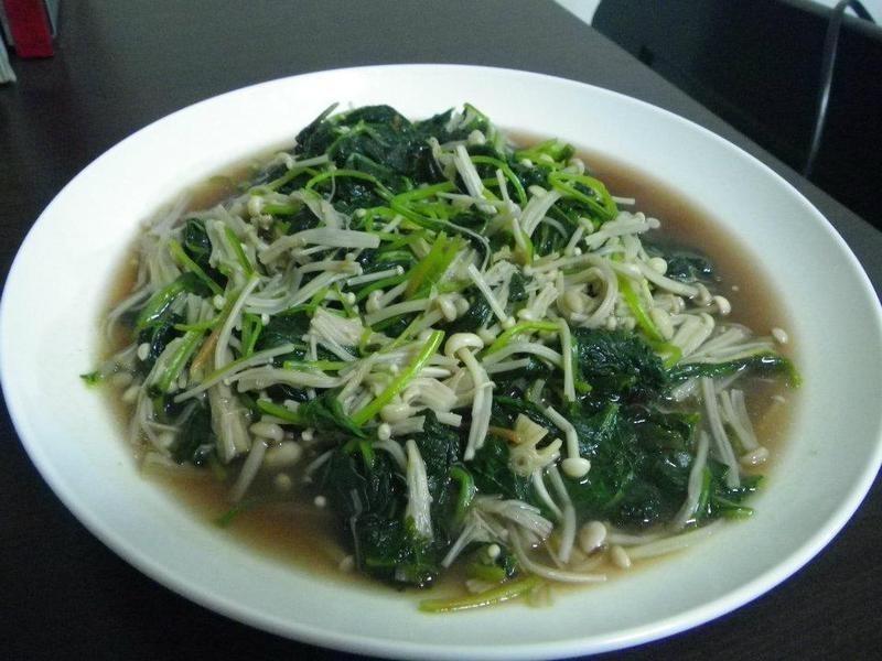 金針菇紅莧菜(補血順腸)