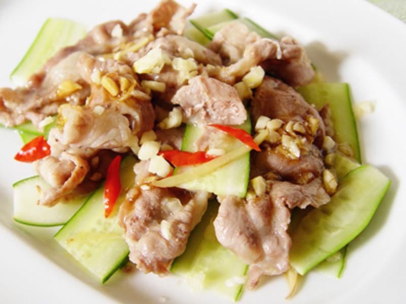 【厚生廚房】黃瓜蒜泥肉片
