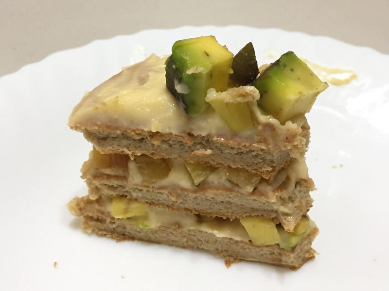 無糖糙米麩鬆餅水果蛋糕