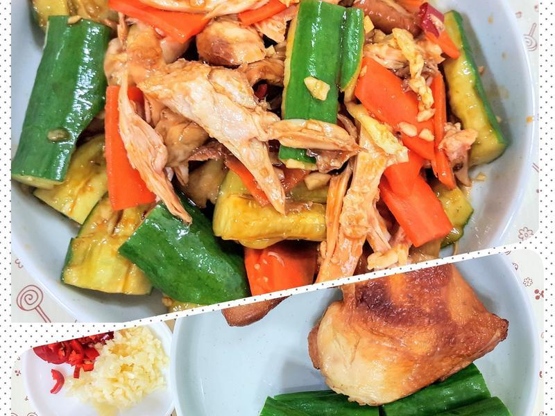 辣拌黃瓜燻雞