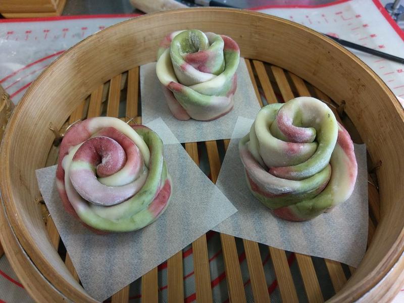 玫瑰花饅頭