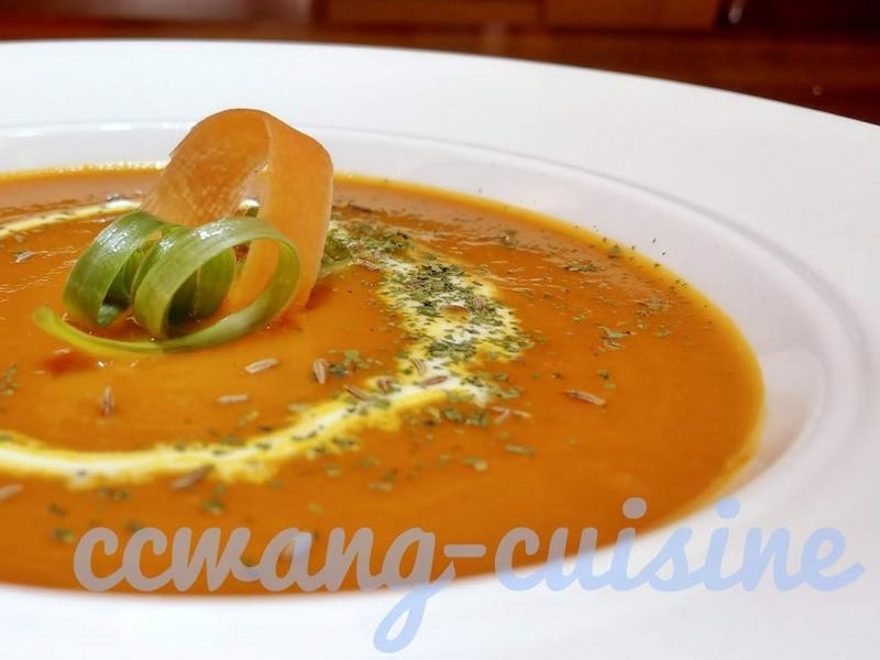 焦糖化胡蘿蔔濃湯
