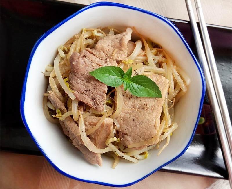 味噌豆芽炒肉片