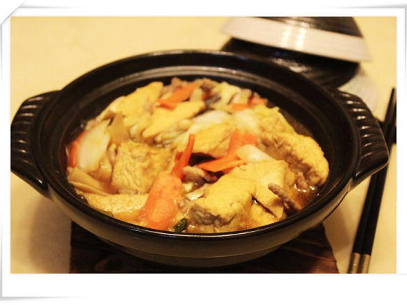 白菜油豆腐褒