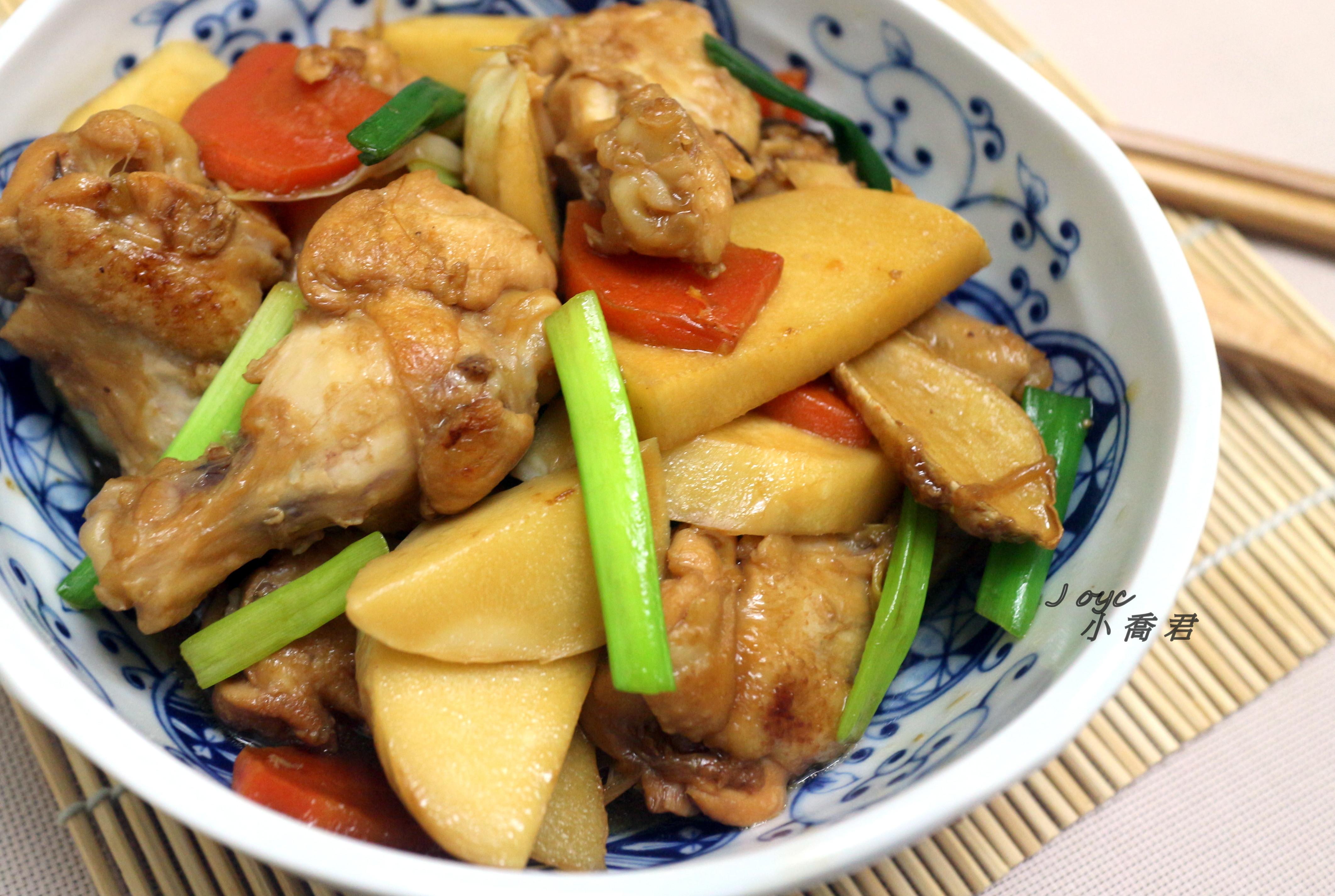 綠竹筍醬燒雞小腿