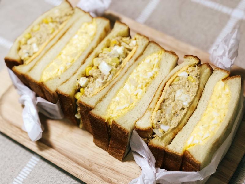 夏日早餐《蛋沙拉三明治組》