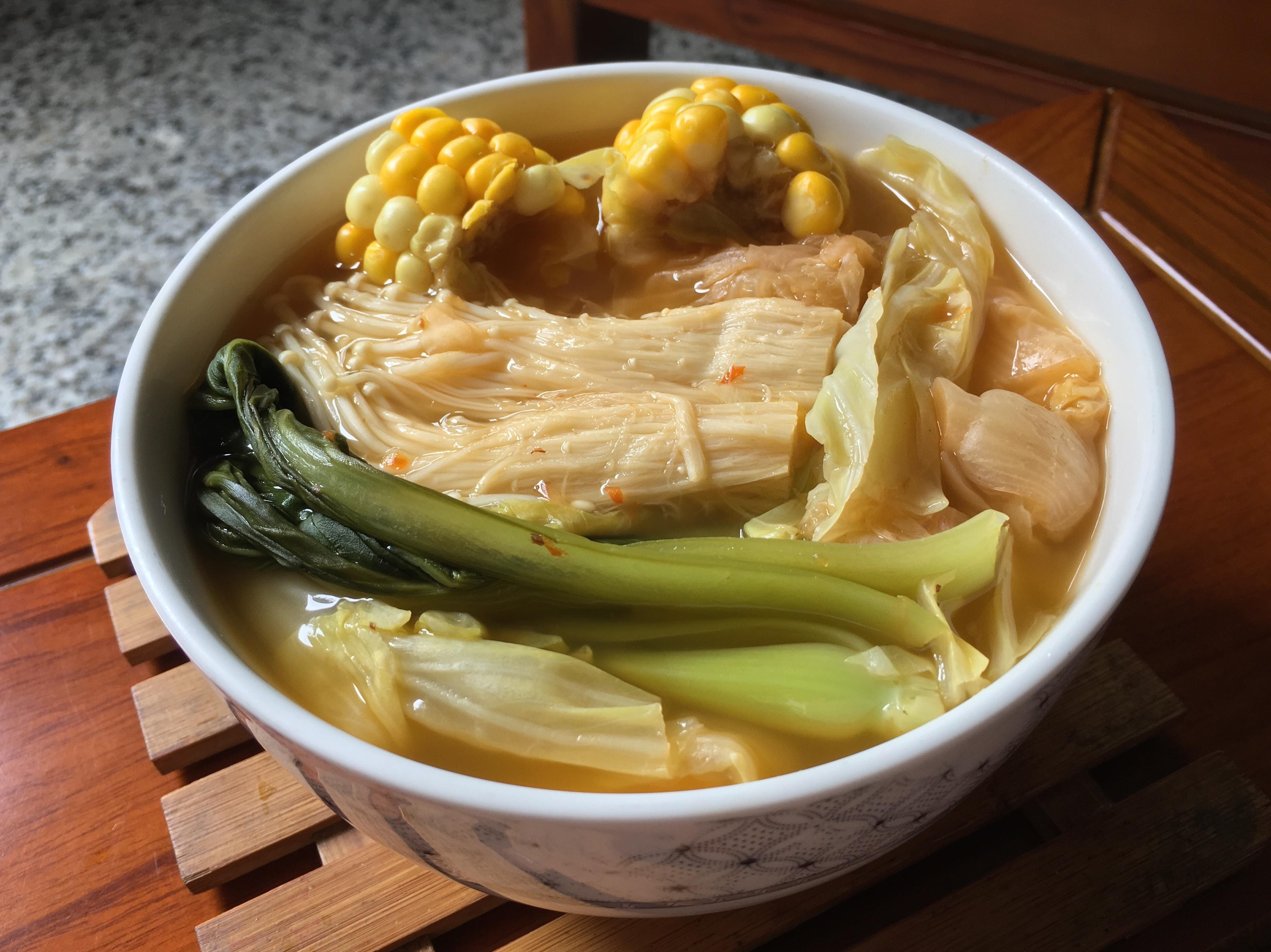 [剩食利用]泡菜蔬菜湯