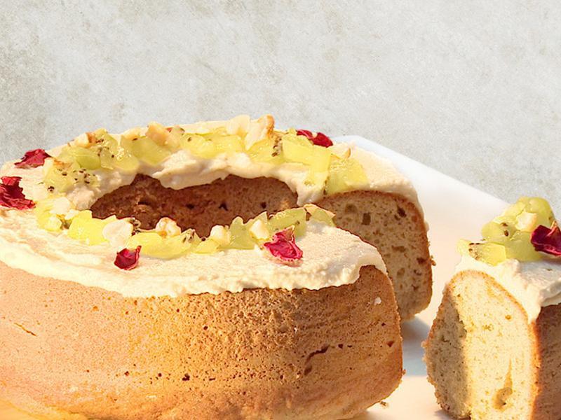 玫瑰天使蛋糕 | 無奶蛋素食可