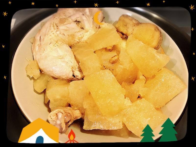 【低油料理】清蒸冬瓜燉雞腿