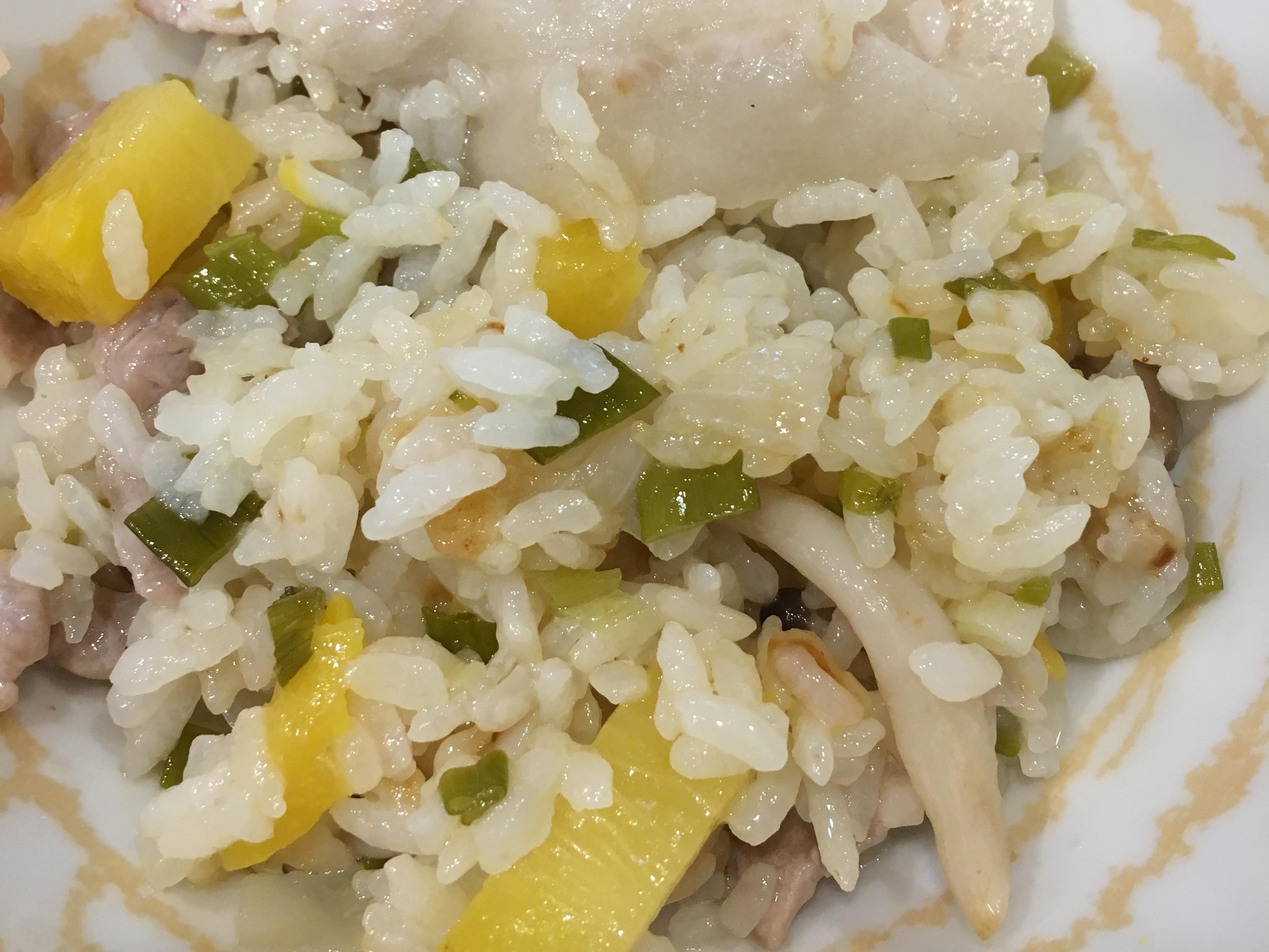 鳳梨菇菇燉飯